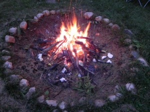 Lisa and Mark's Property.Bonfire.3.August, 2011